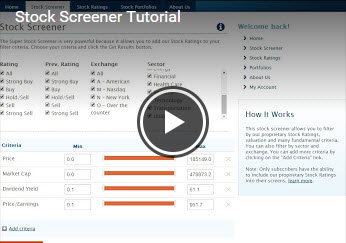 Stock Screener Tutorial